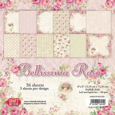 CPB-BR15 Bloczek 15x15 Craft & You Design -Bellissima Rosa