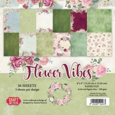 CPB-FV15 Bloczek 15x15 Craft & You Design -Flower Vibes