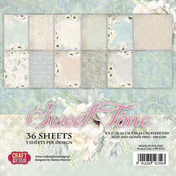 CPB-ST15 Bloczek 15x15 Craft & You Design -Sweet Time