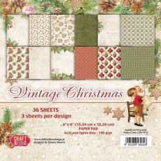 CPB-VC15 Bloczek 15x15 Craft & You Design -Vintage Christmas