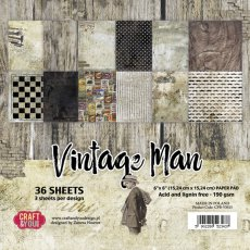 CPB-VM15 Bloczek 15x15 Craft & You Design -Vintage Man