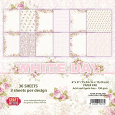 CPB-WD15 Bloczek 15x15 Craft & You Design -White Day