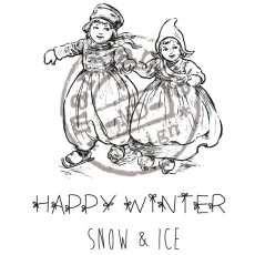 CS0906 Stempel gumowy -Happy Winter