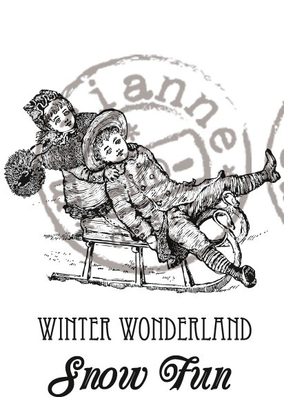 CS0907 Stempel gumowy -Winter Wonderland
