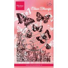 CS0926 Stemple silikonowe - Motyle i kwiaty