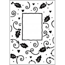 CTFD3034 Folder do embossingu Christmas Holly Frame