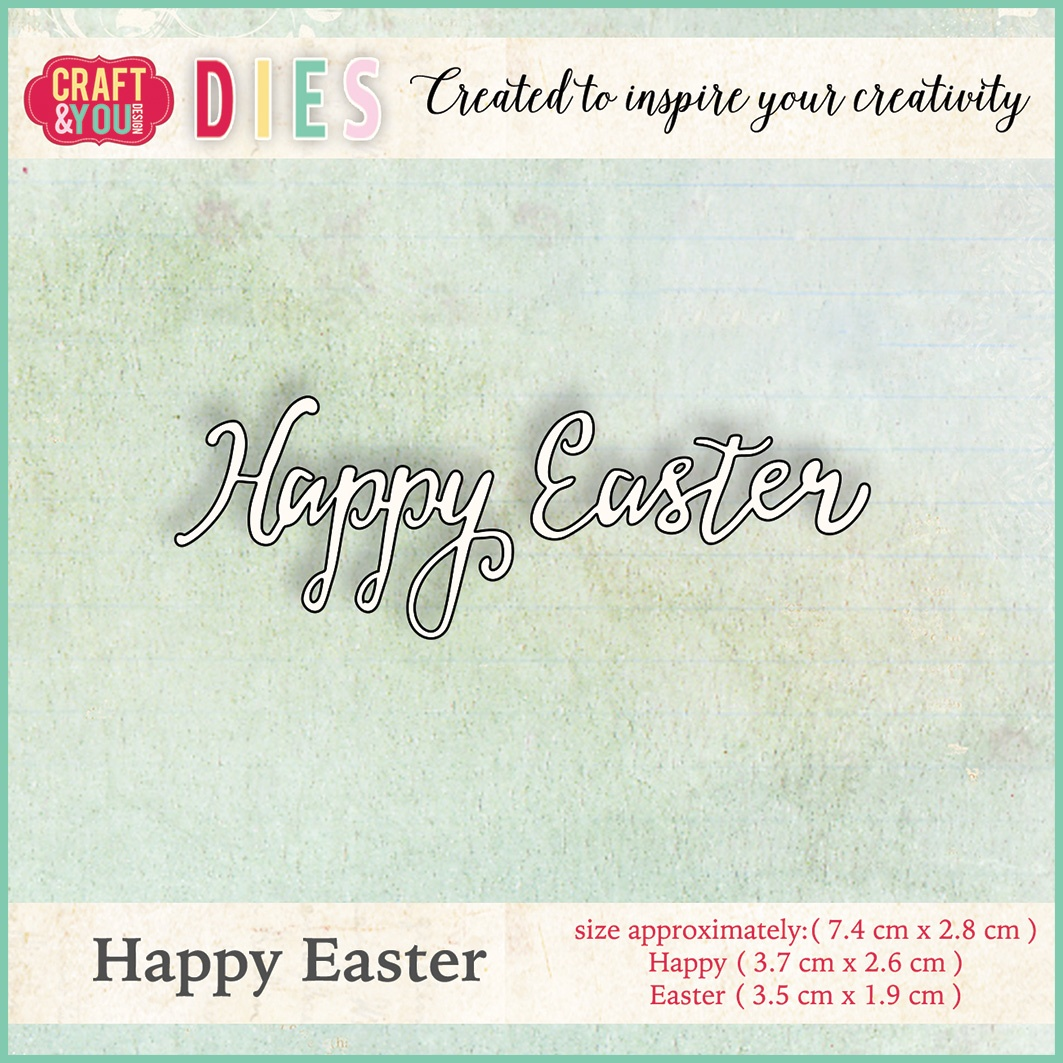 CW006 Wykrojnik Craft&You Design -Happy Easter