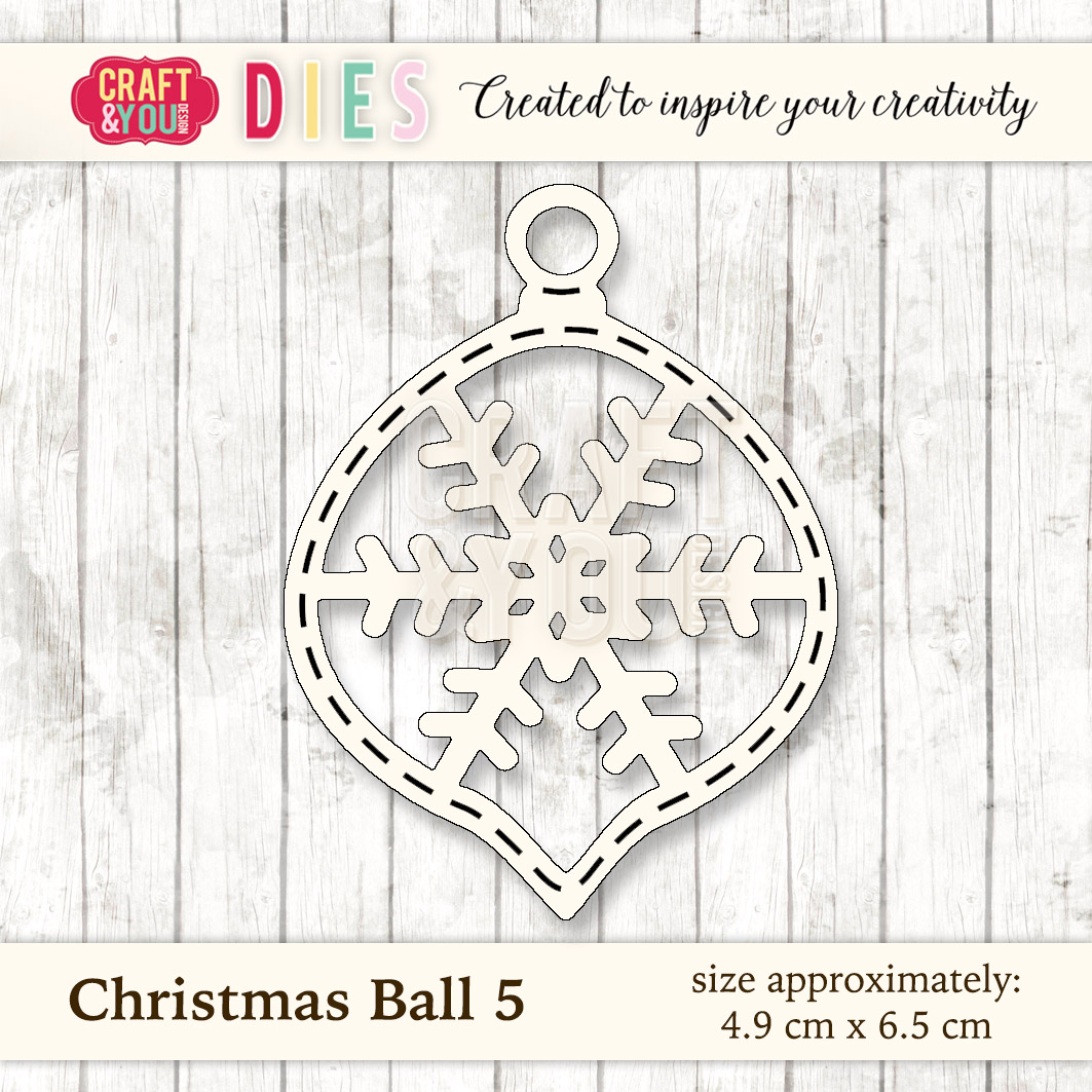 CW028 Wykrojnik Christmas Ball 5-bombka 5 Craft&You Design