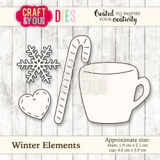 CW034 Wykrojnik Winter Elements-zimowe elementy-Craft&You Design