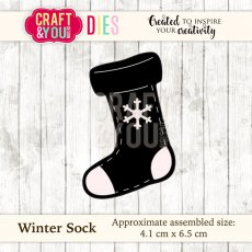 CW036 Wykrojnik Winter Sock-skarpeta -Craft&You Design
