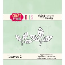 CW039 Wykrojnik - Leaves 2-listki 2 -Craft&You Design