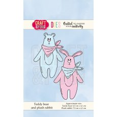 CW066 Wykrojnik -Teddy bear and plush rabbit-pluszowy miś i królik-Craft&You Design