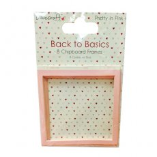 DCCB003 Ozdobne ramki tekturki do scrapbookingu Dovecraft Back to Basics - Pretty in Pink - Chipboard Frames