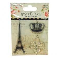 DCCS044 Stempel silikonowy-Dovecraft Sweet Paris Clear Stamps - Eiffel Tower