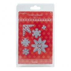 DCDIE003X15 Wykrojniki Dovecraft Christmas Basics - Snowflakes - Śnieżynki
