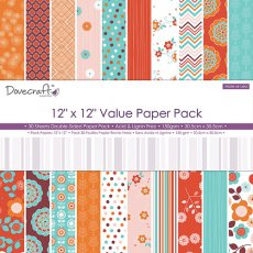 DCDP170 Zestaw papierów 30,5cm x 30,5cm Dovecraft 12x12 More or Less Value Paper Pack