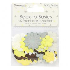 DCFLW013- Dovecraft - Back to Basics -Baby Steps- Papierowe kwiatki