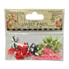 DCMB004 Mini Kokardki Dovecraft Sweet Paris Mini Ribbon Bows