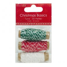 DCRBN006X15 Sznureczki Twine-Dovecraft Christmas Basics
