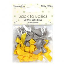 DCRBN026 Dovecraft - Back to Basics - Mini kokardki Baby Steps