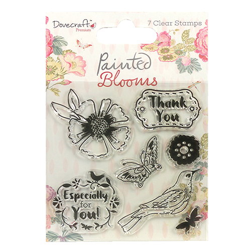 DCSTP083 Stempel silikonowy-Dovecraft  Painted Blooms