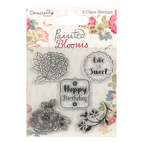 DCSTP084 Stempel silikonowy-Dovecraft  Painted Blooms