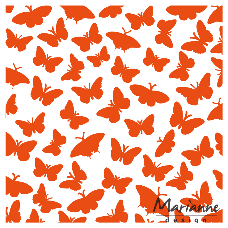 DF3433 Folder do embossingu Marianne Design Embossing Folder -motyle
