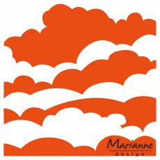 DF3434 Folder do embossingu Marianne Design Embossing Folder -chmury