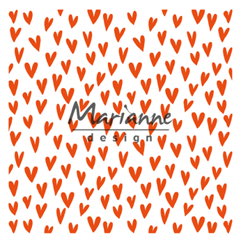 DF3438 Folder do embossingu Marianne Design - Trendy Hearts