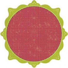 Die-cut 30,5 x 30,5 z brokatem Mini Dot Red Mistletoe