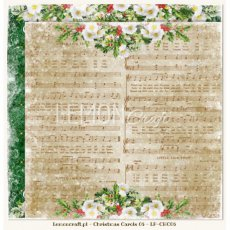 LP-CHC06 Christmas Carols 06-Dwustronny papier do scrapbookingu Lemoncraft