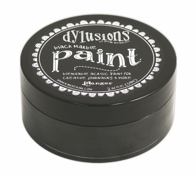 DYP45946 Farba akrylowa Dylusions Paint -Black Marble