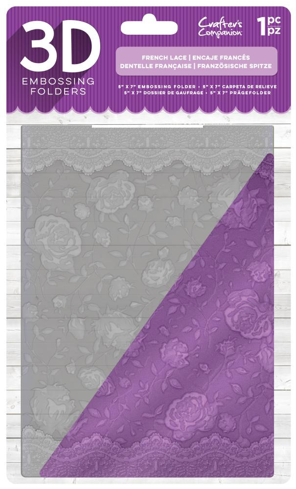 EF5-3D-FLACE Folder do embossingu 3D - French Lace