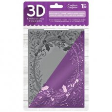 EF5-3D-X-HOL Folder do embossingu 3D Holly and Ivy Frame-ramka