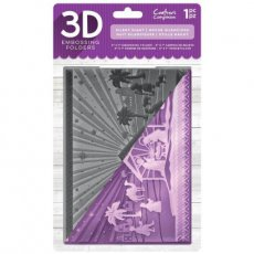 EF5-3D-X-SIL Folder do embossingu 3D Silent Night-szopka