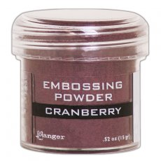 EPJ60352 Puder do embossingu Cranberry Metallic Ranger