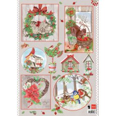 EWK1246 Arkusz A4 -Marianne Design - Country Christmas- Cat