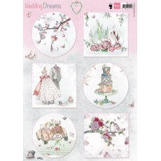 EWK1266 Arkusz A4 -Marianne Design - Wedding Dreams