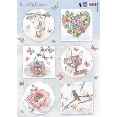 EWK1267 Arkusz A4 -Marianne Design - Butterfly Dreams