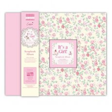 FEALB006 Album do scrapbookingu 30,5x30,5 cm- It?s a Girl