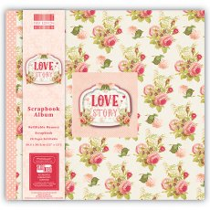 FEALB027 Album do scrapbookingu 30,5x30,5 cm-Love Story