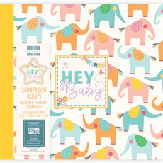 FEALB063 Album do scrapbookingu 30,5x30,5cm - Hey Baby Elephants