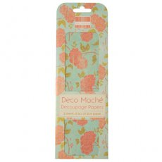 FEDEC012 First Edition Deco Maché - Orange Bloom-papier do decoupage\'u