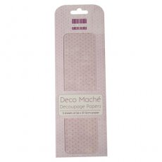 FEDEC043 First Edition Deco Maché - Pastel Polka-papier do decoupage\'u