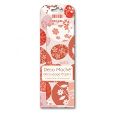 FEXDEC038 First Edition Deco Maché - Easter - Red Eggs-papier do decoupage\'u