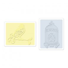 657661 Foldery do embossingu 2szt -Bird & Birdcage Set
