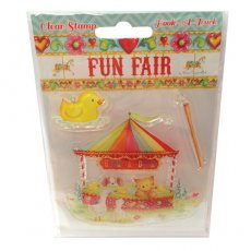 HCCS024 Stempel silikonowy -Fun Fair by Helz Cuppleditch  - Hook a Duck