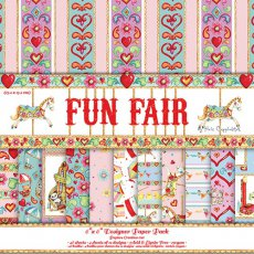 HCDP018 Zestaw papierów 15x15cm- Fun Fair by Helz Cuppleditch