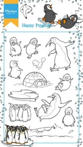 HT1628 Stemple akrylowe -Hetty\'s Happy Pinguins-pingwiny