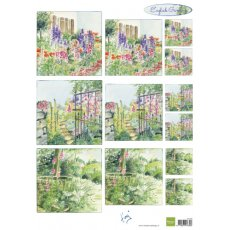 IT591 Arkusz A4 -Marianne Design - English Garden - Foxgloves